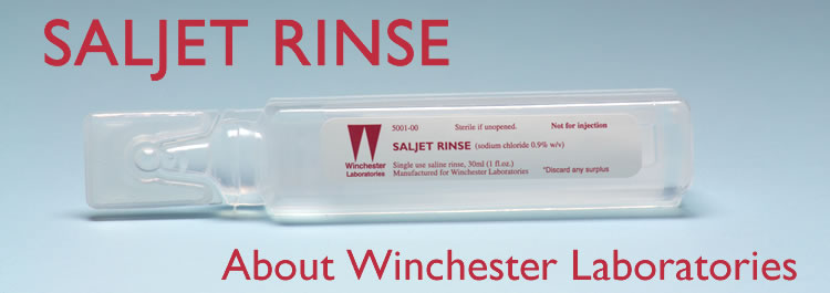 About Winchester Laboratories, makers of saljet Rinse