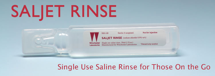 Saljet Rinse - Portable saline for wound cleaning