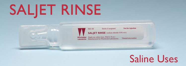 Use Saline to Clean wounds, cuts and scrapes
