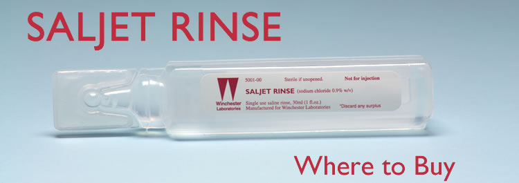 Saline history for wound care